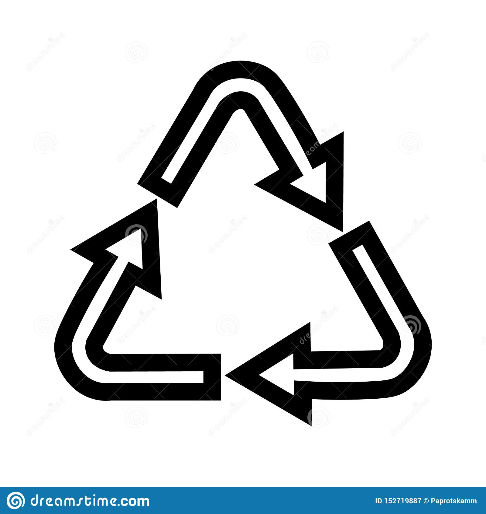 Pittogrammi per i simboli di riciclaggio, prodotti per progettazione
