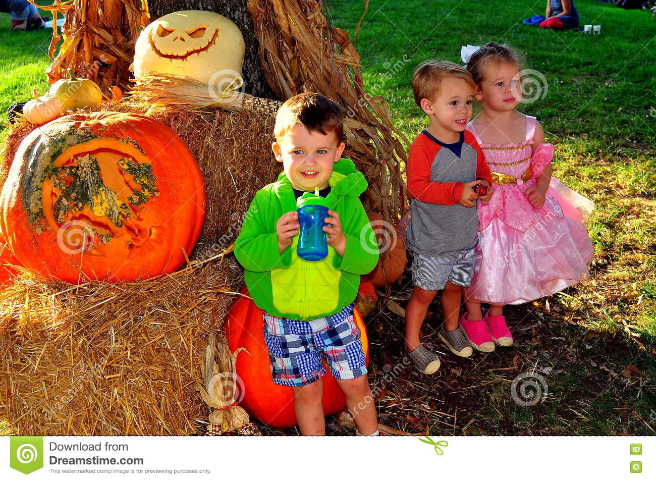 Pittsboro, NC: Children at PumpkinFest Event