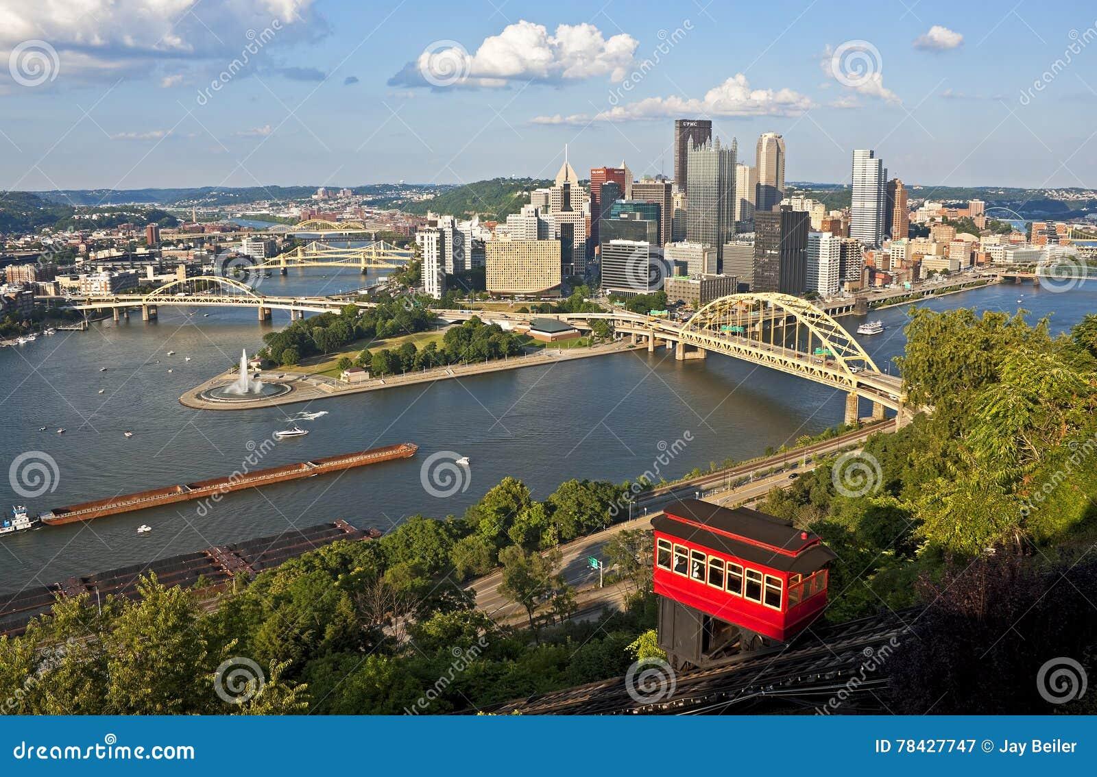 Pittsburgh con la pendiente de Duquesne