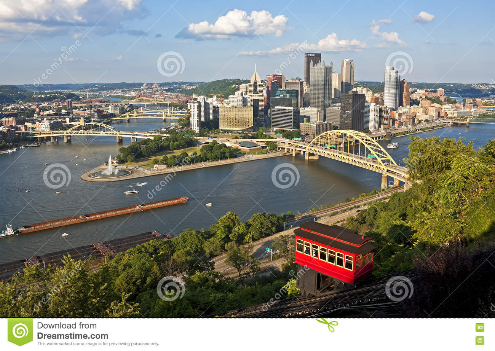 Pittsburgh met de Duquesne-Helling