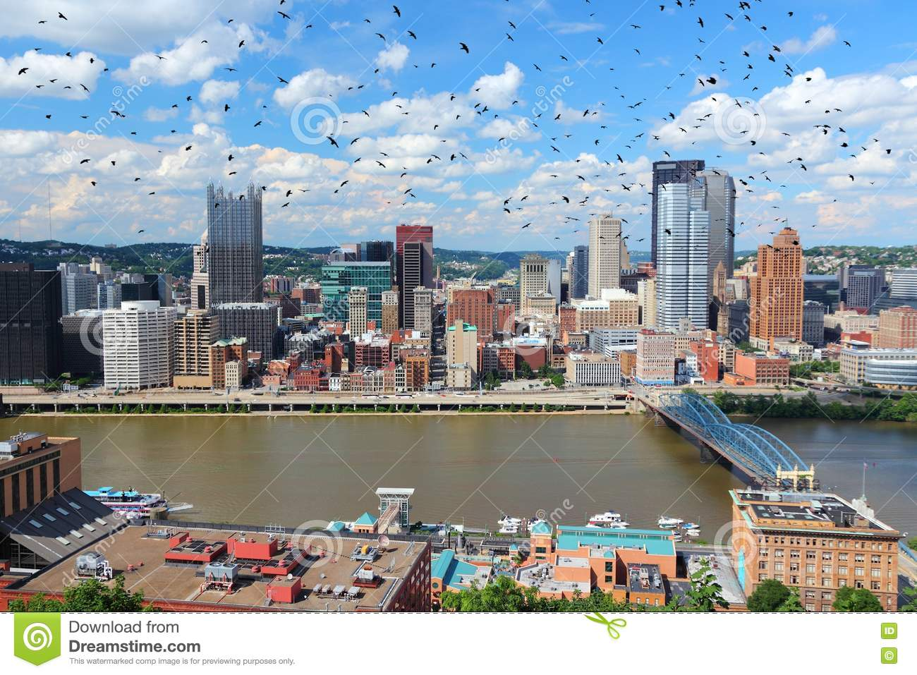 Pittsburgh PA stock photo  Image of sightseeing, office