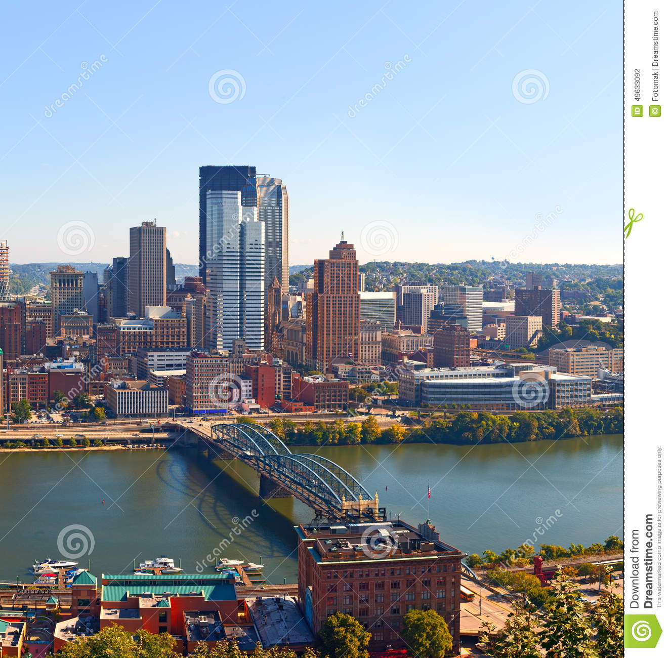 pittsburgh pennsylvania usa skyline panorama of business buildings stock photo image 49633092. Black Bedroom Furniture Sets. Home Design Ideas