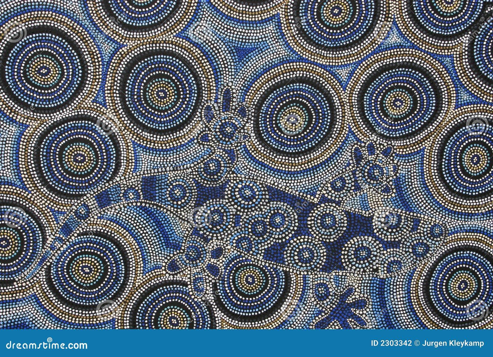 Pittura aborigena fotografia stock immagine 2303342 for Arte aborigena