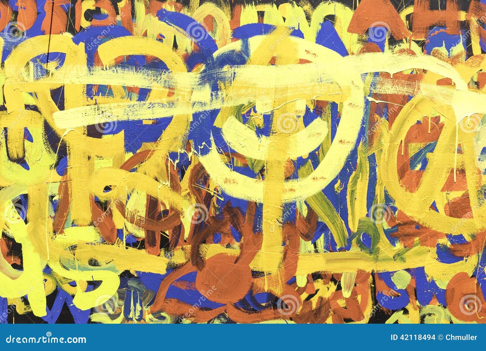 Pittura astratta Art Multicolored