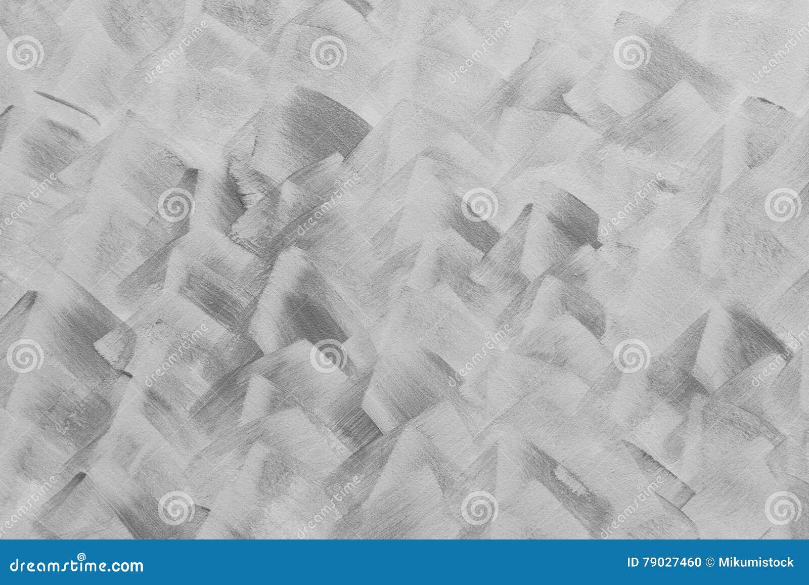 Pittura Cemento Design : Pittura in bianco e nero di colore di astrattismo in parete del