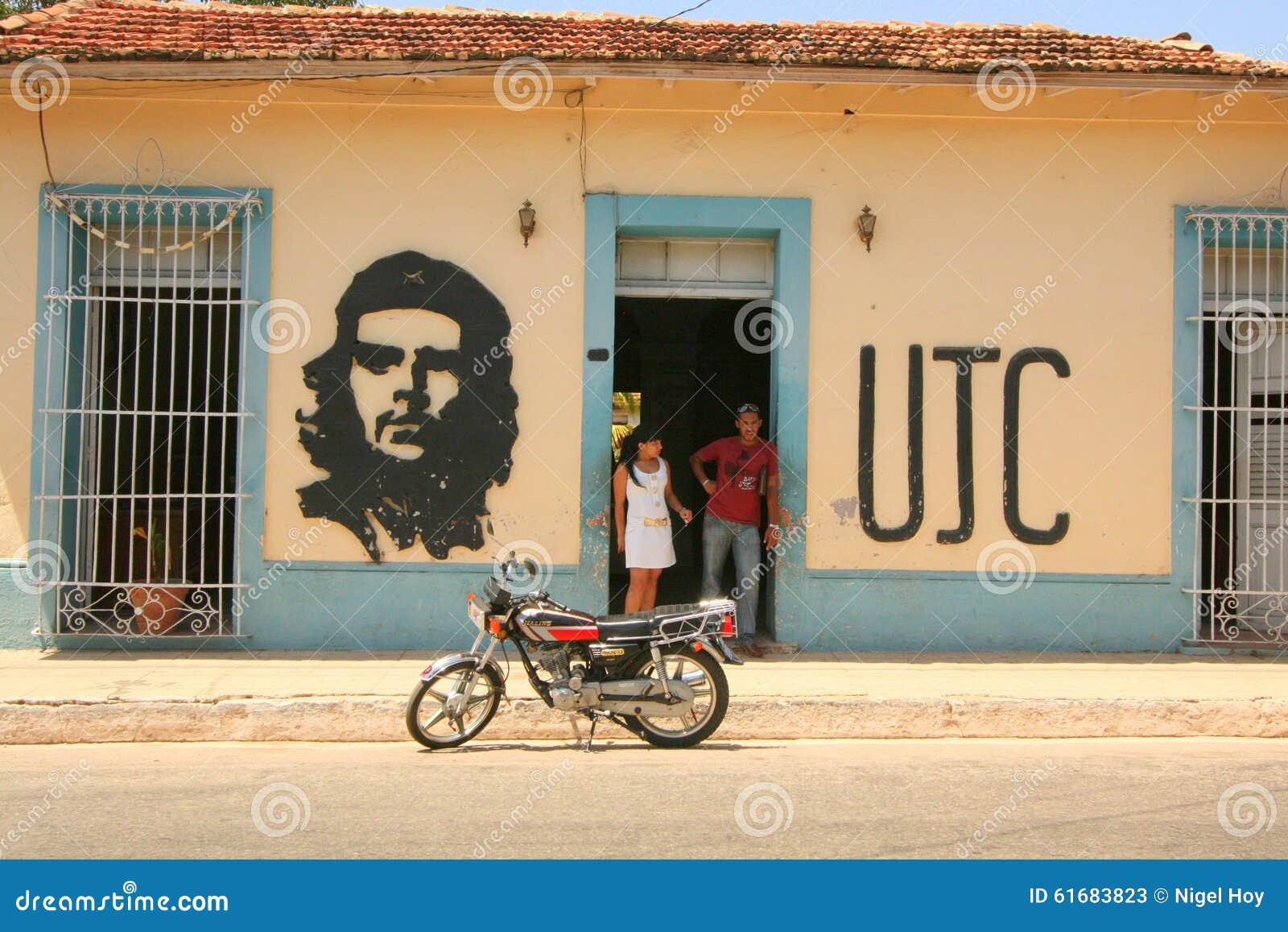 Pittura Della Parete Di Che Guevara Fotografia Stock ...