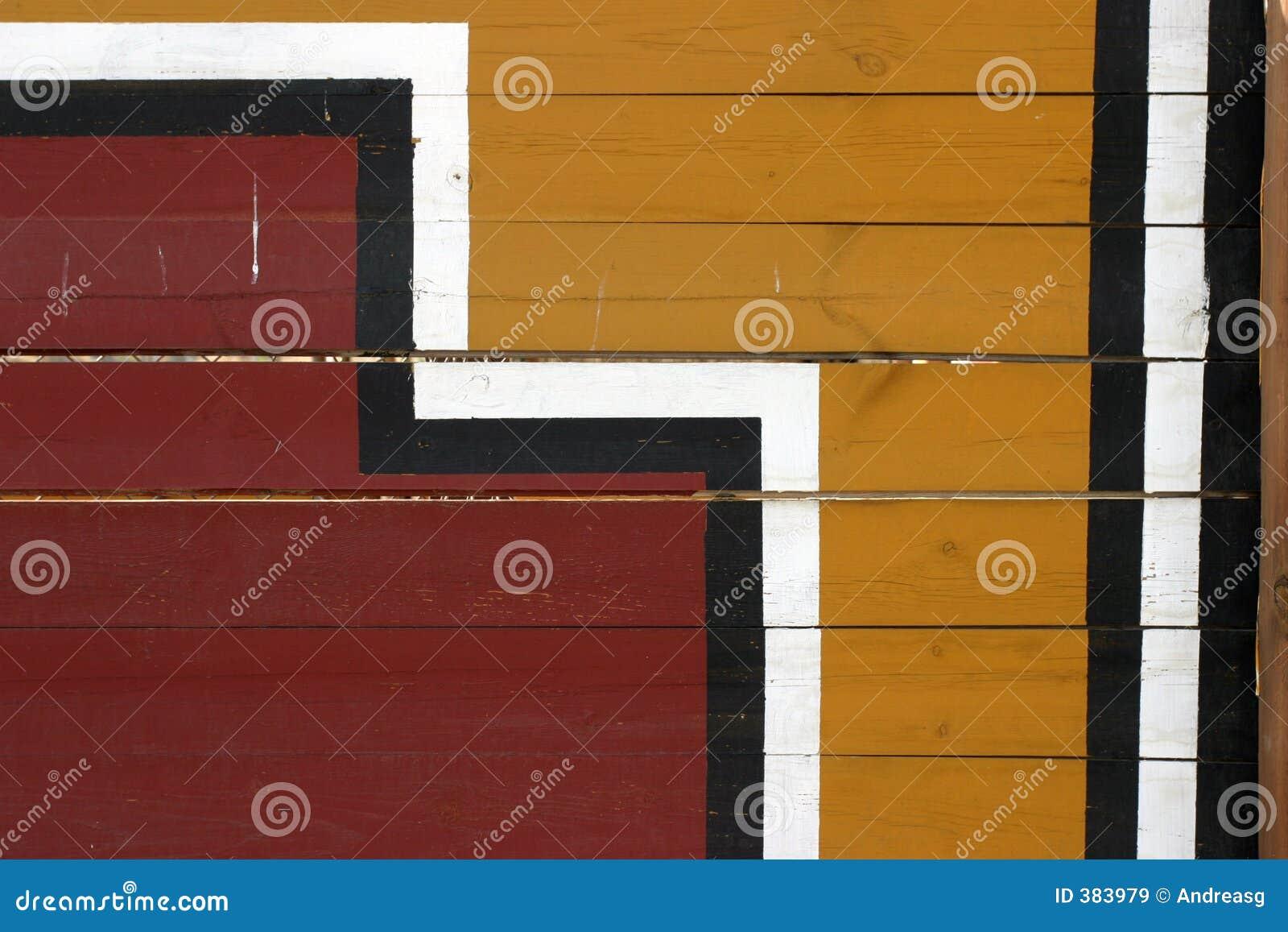 Pittura geometrica sulle plance
