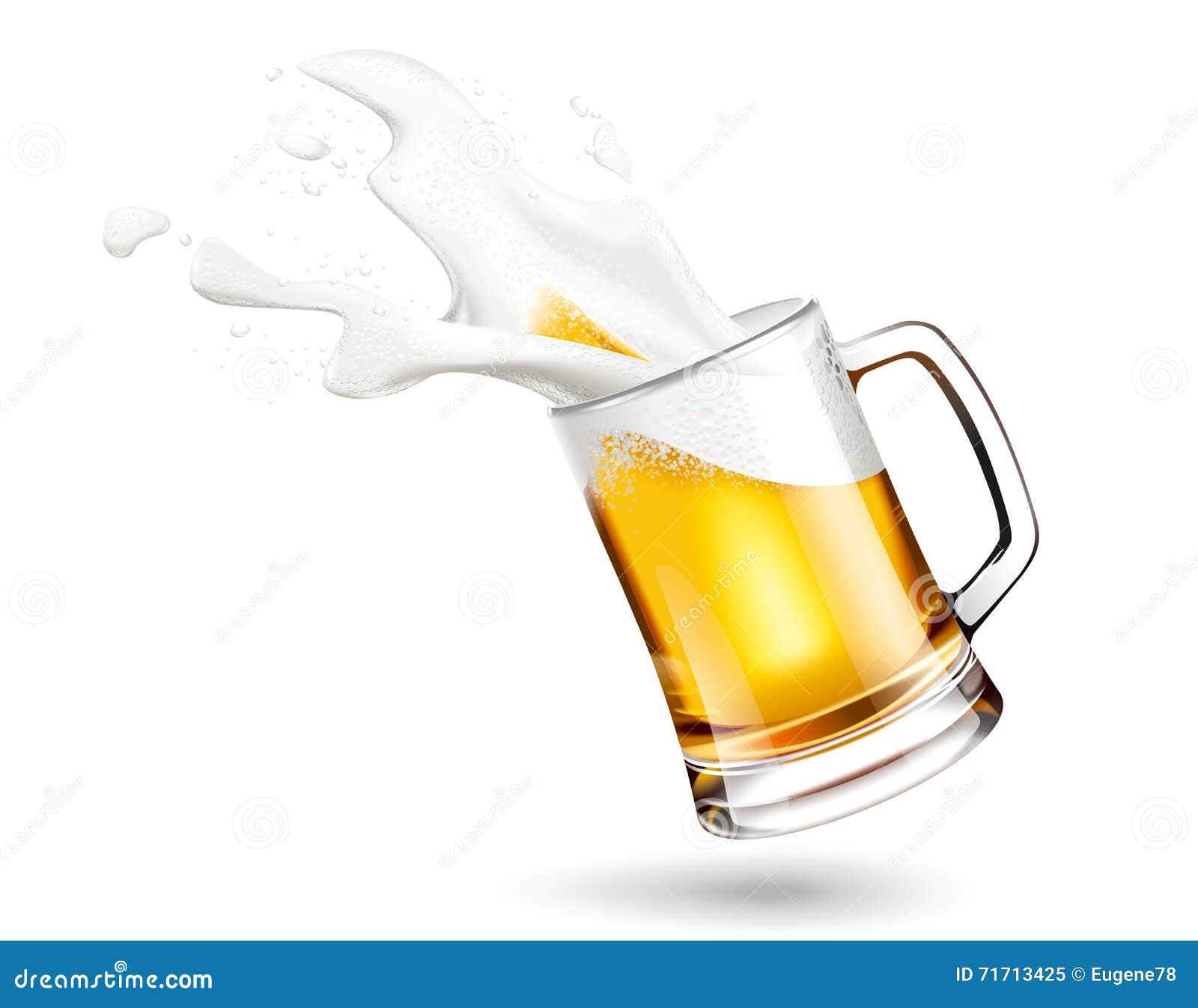 Piwa i pluśnięć piana