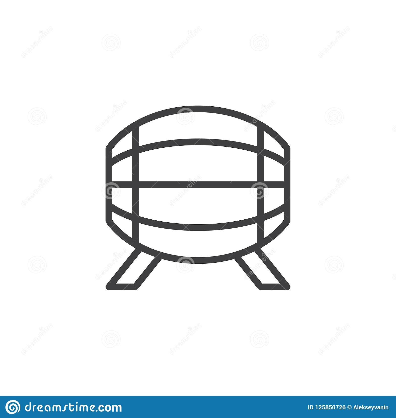 Piwnej baryłki konturu ikona
