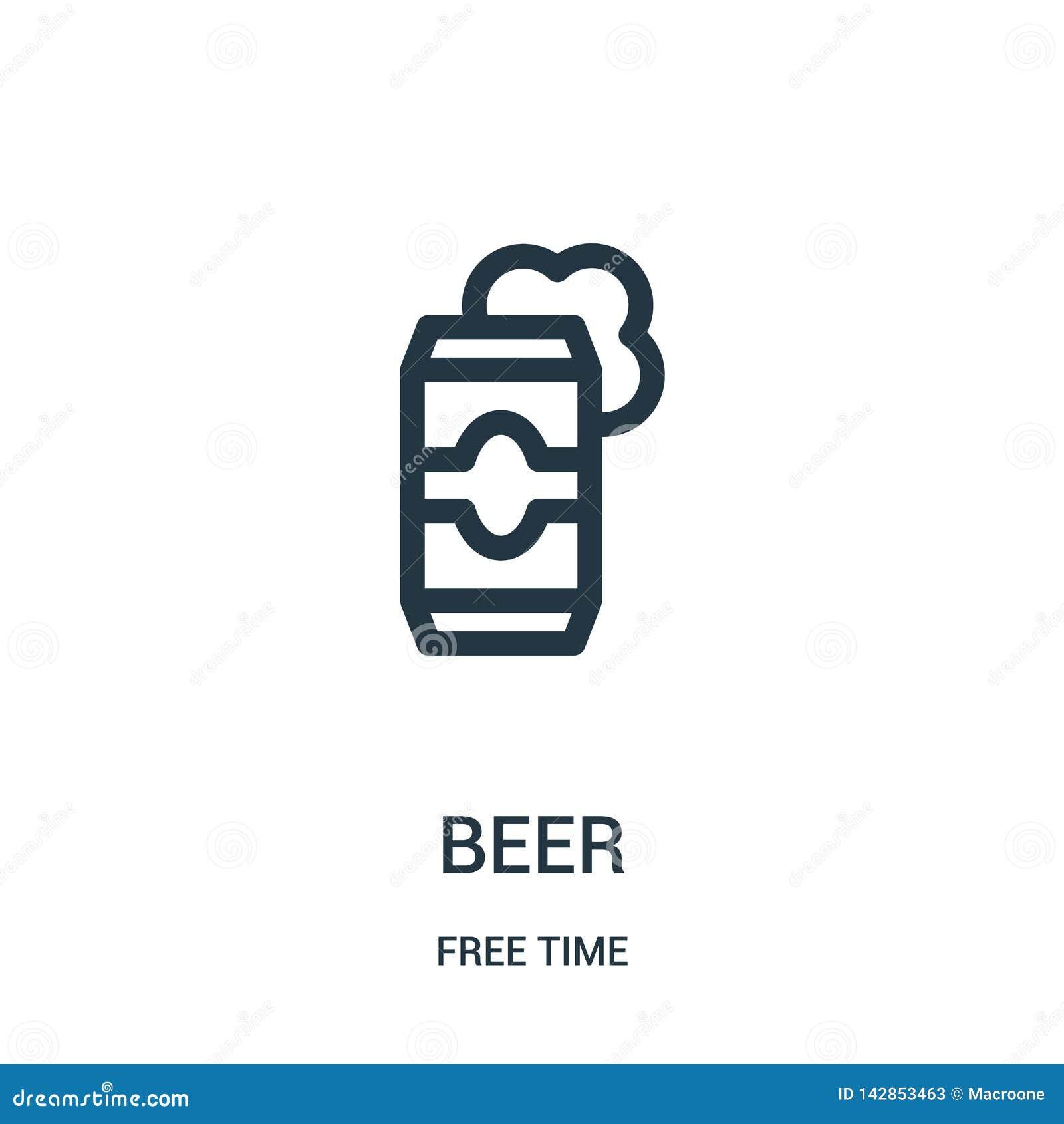 Piwny ikona wektor od czas wolny kolekcji Cienka kreskowa piwna kontur ikony wektoru ilustracja Liniowy symbol dla używa na sieci