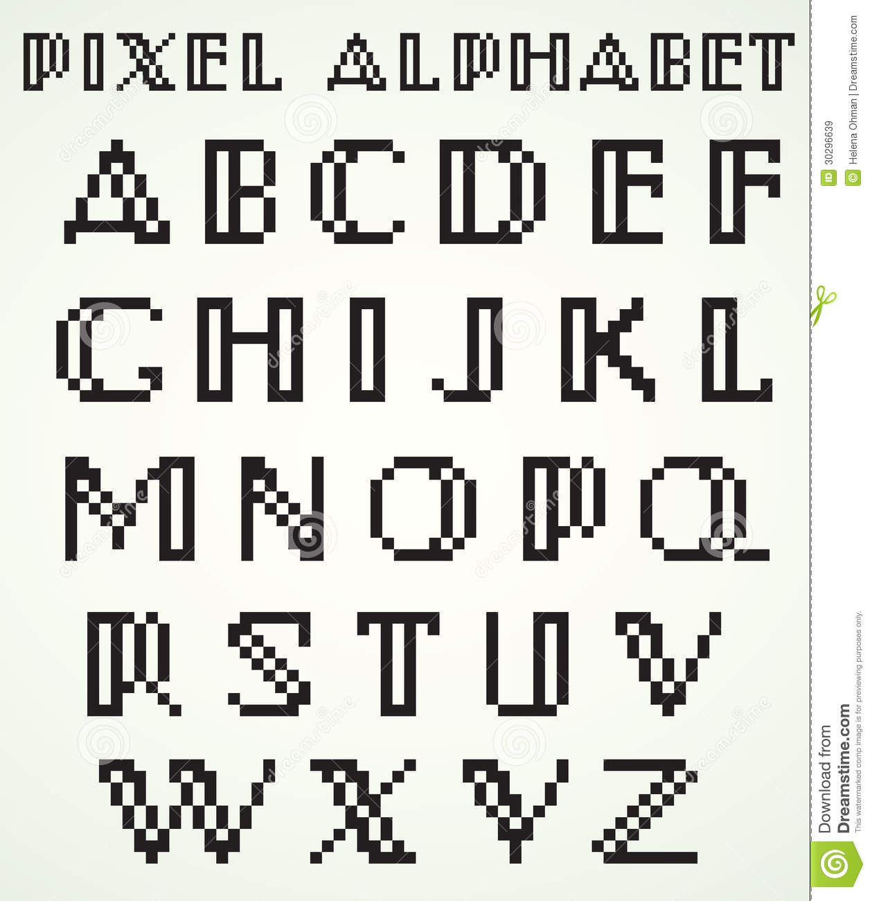 pixel art letters pixel alphabet stock vector illustration of alphabet 11372