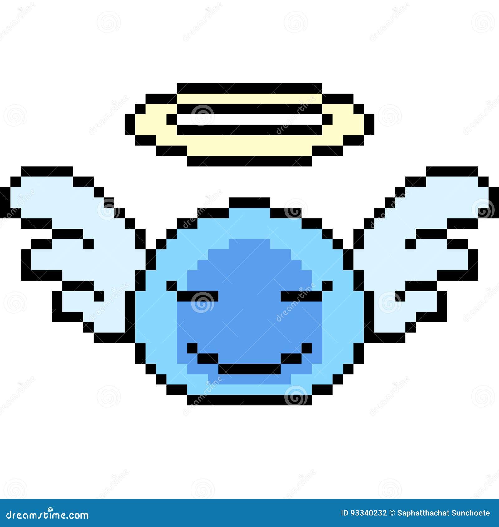 Pixel Art Angel Slime Stock Vector Illustration Of Smile