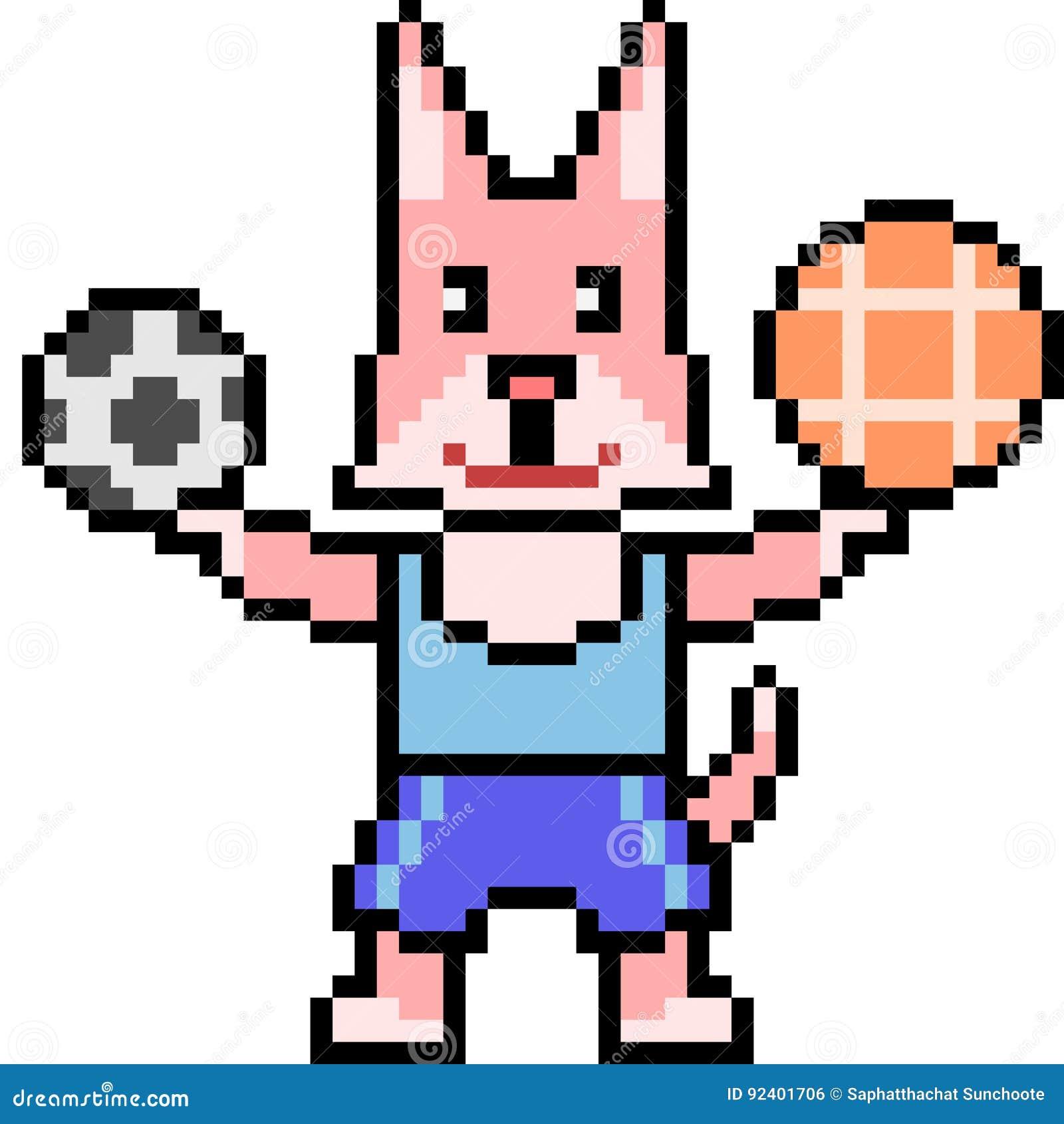 Pixel Art Athlete Cat Stock Illustration Illustration Of