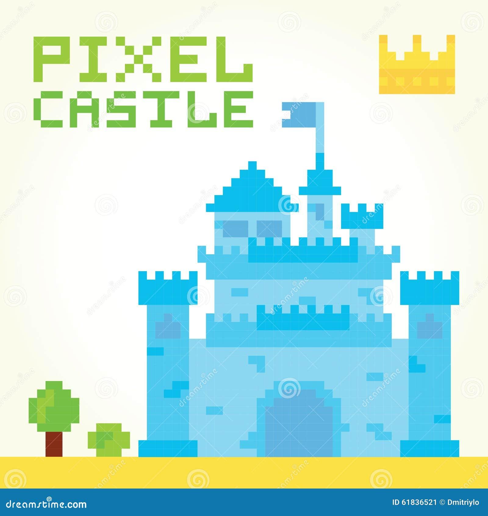 Pixel Art Boy Castle Vector Stock Vector Image 61836521