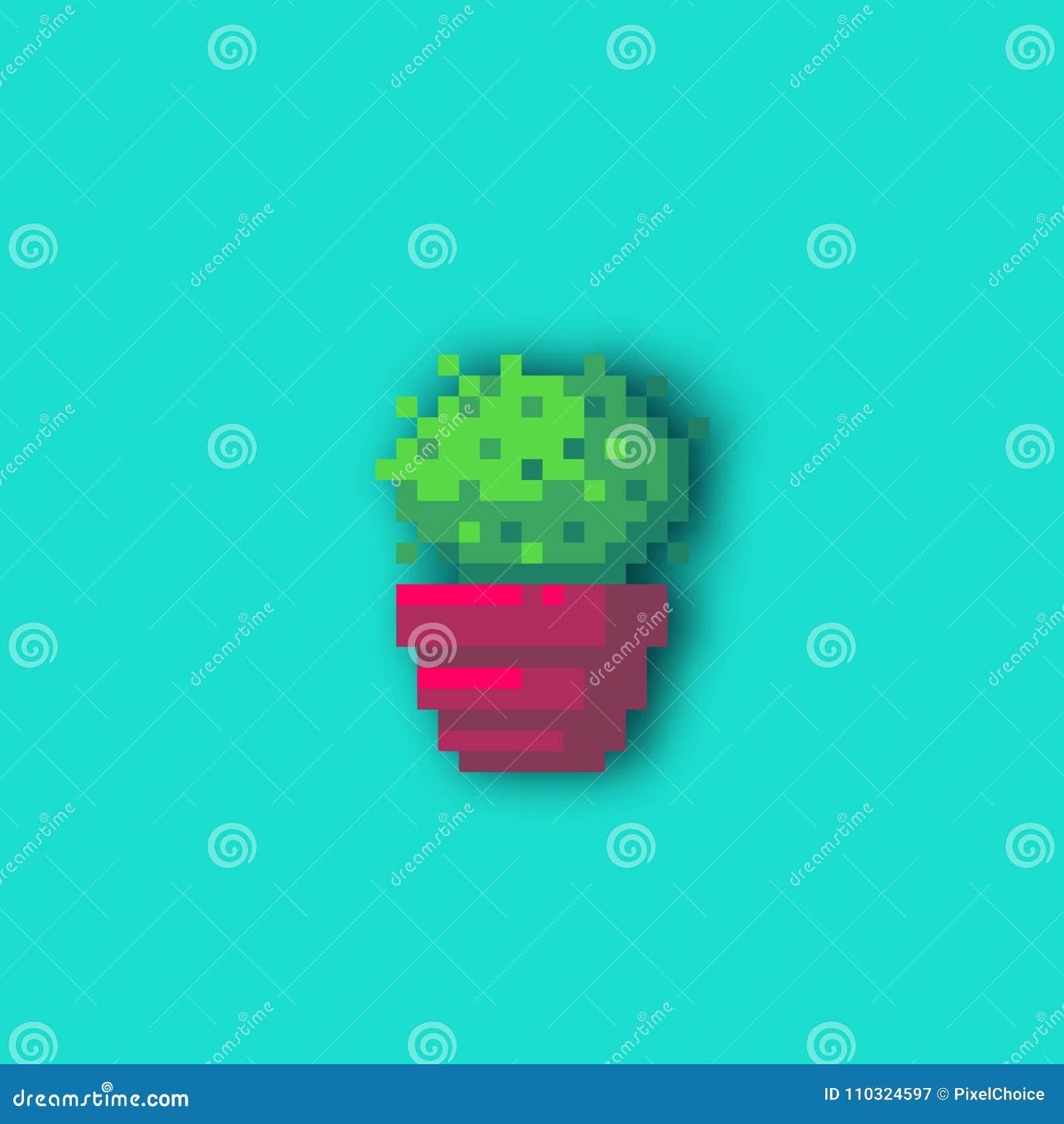 Pixel Art Cactus Illustration De Vecteur Illustration Du