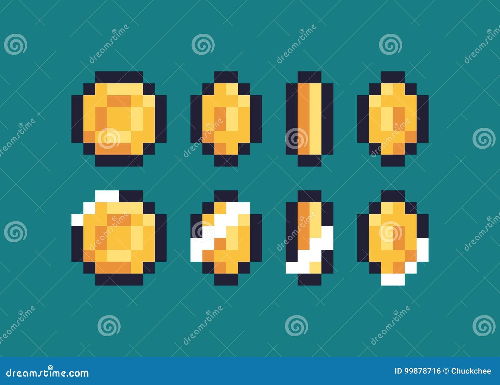 Pixel Art Coin