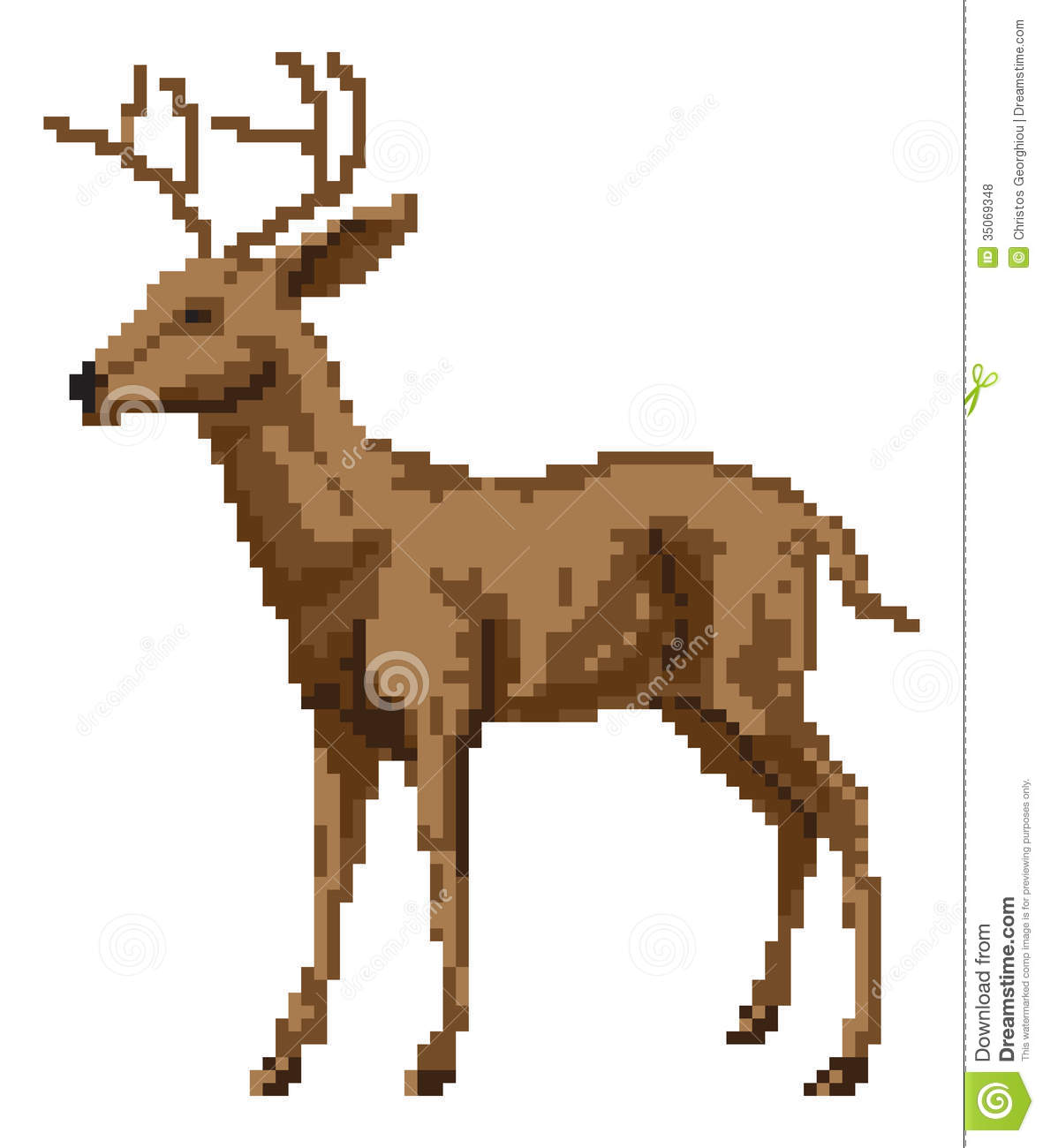 Art deer illustration royalty free stock photos image 35069348