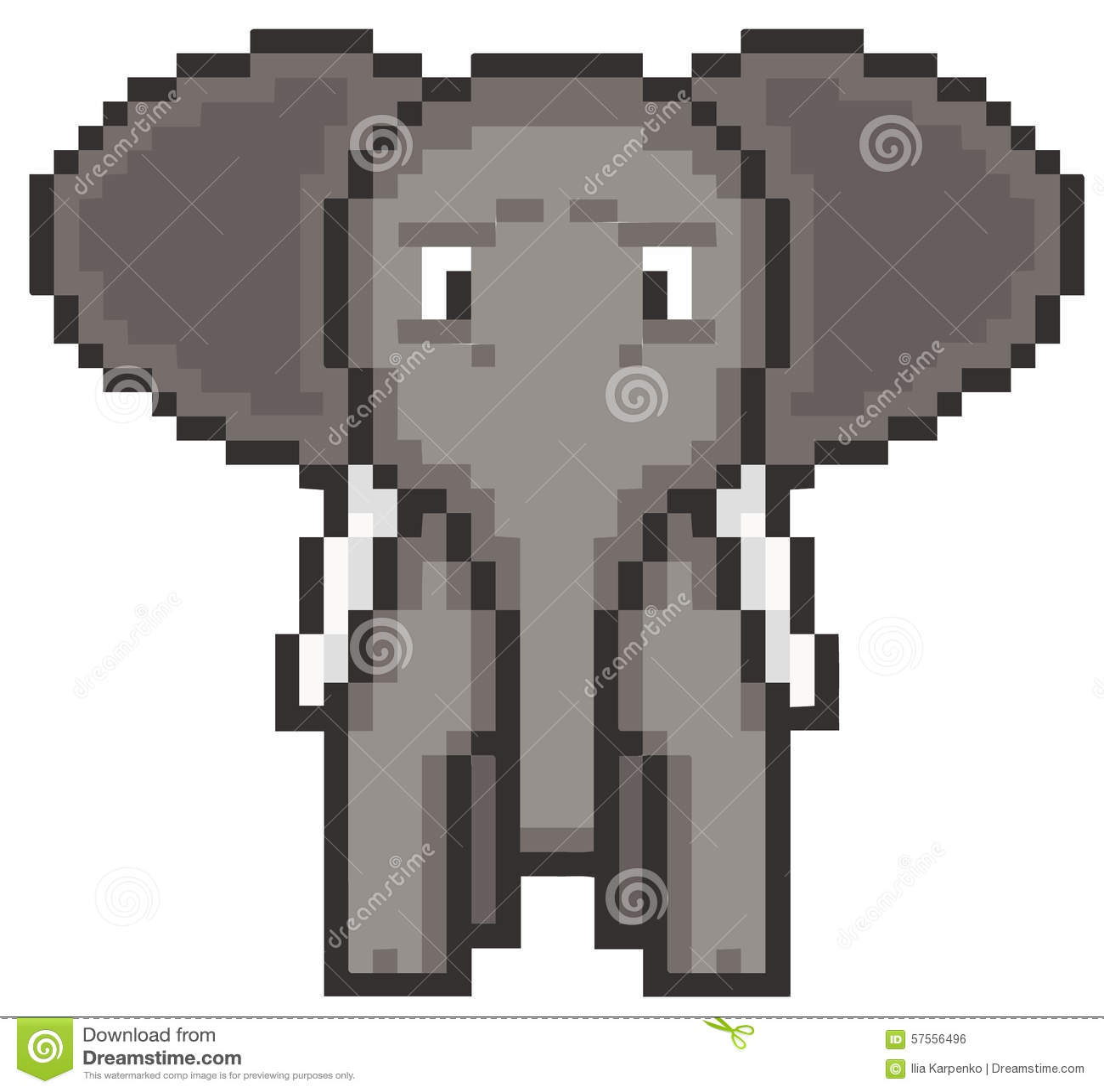 Pixel Art Elephant Stock Vector Illustration Of Pets 57556496