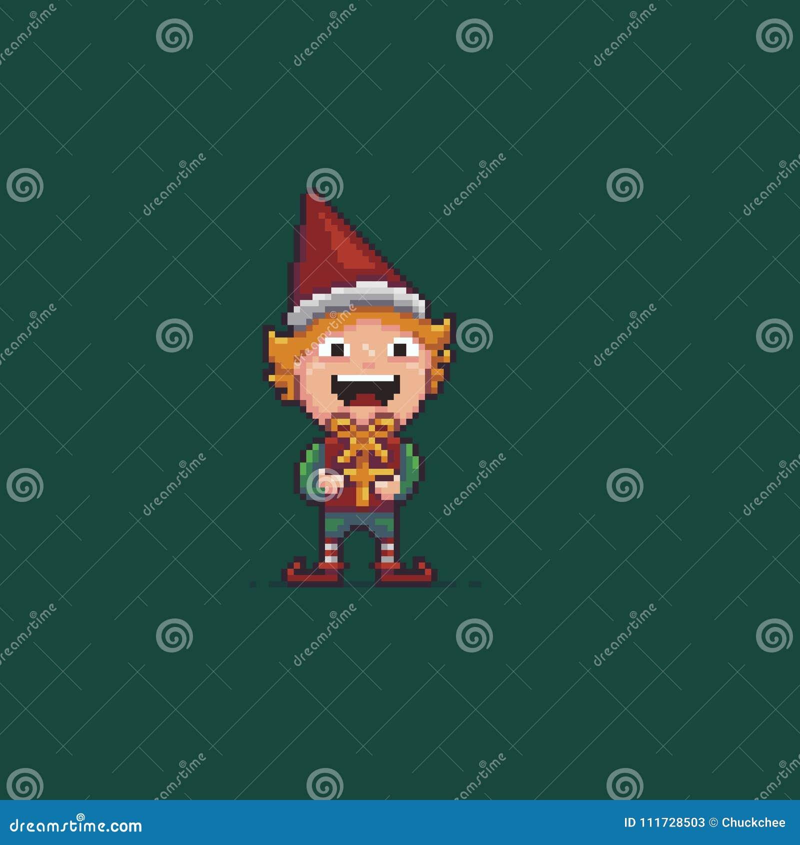 Pixel Art Elf Illustration De Vecteur Illustration Du