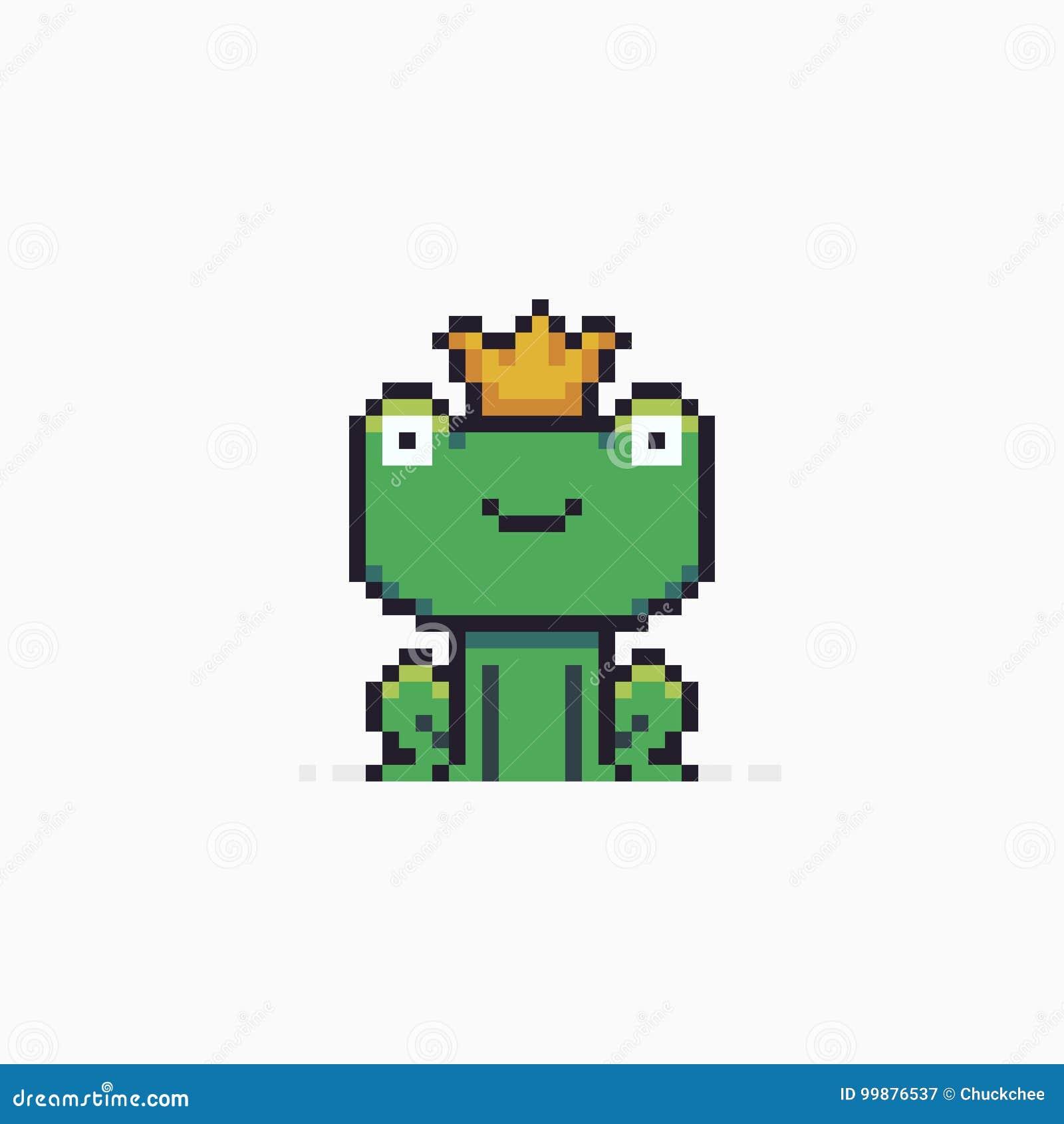 Pixel Art Frog Illustration De Vecteur Illustration Du
