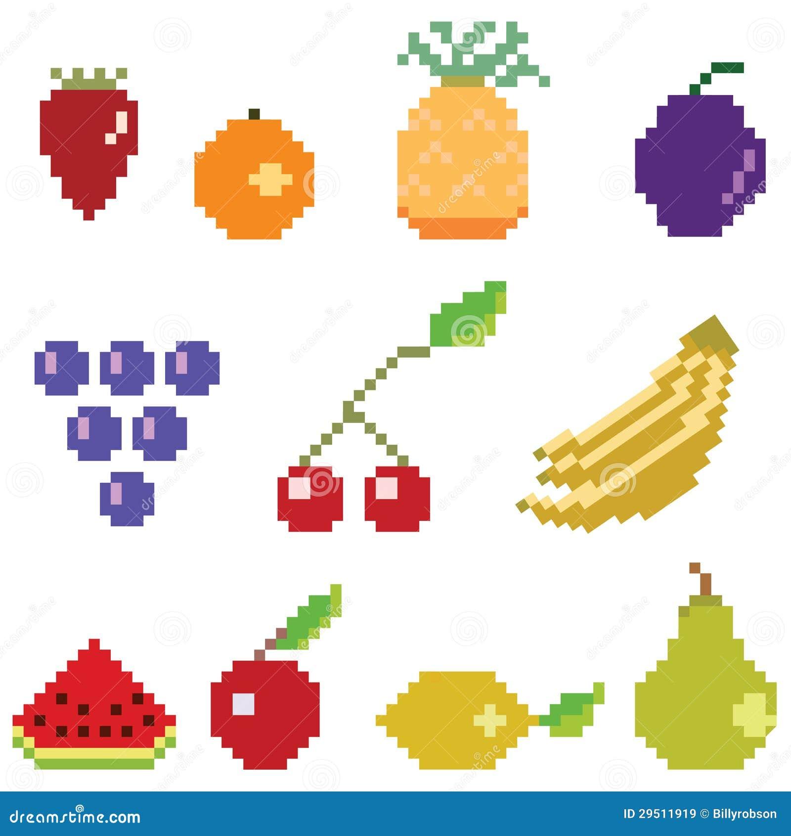 Pixel Art Fruit Stock Illustrations 874 Pixel Art Fruit Stock Illustrations Vectors Clipart Dreamstime
