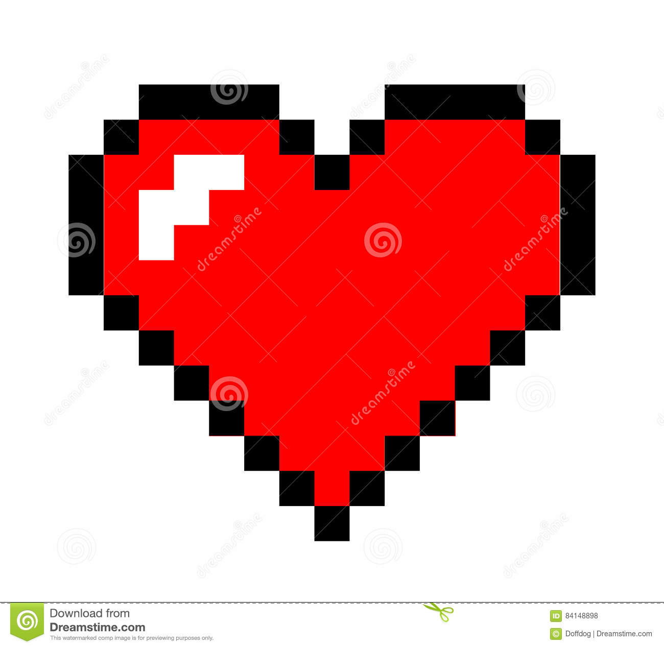 Pixel Art Heart Stock Vector Illustration Of Card Passion 84148898