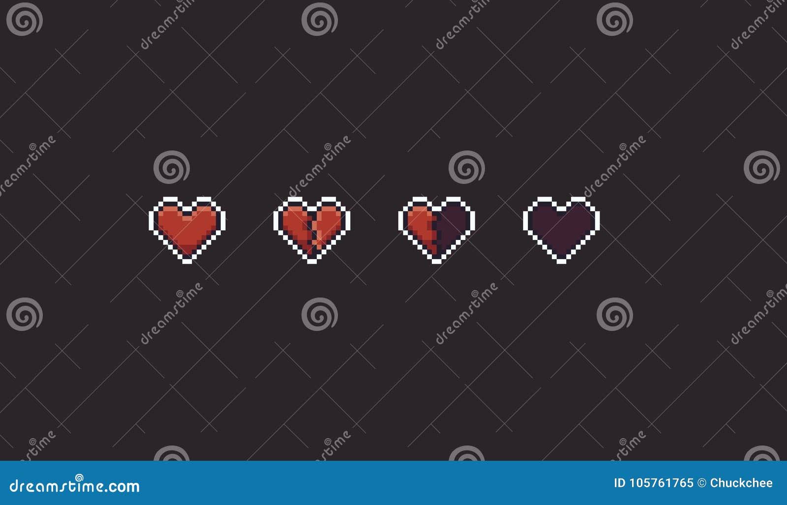 Pixel Art Hearts