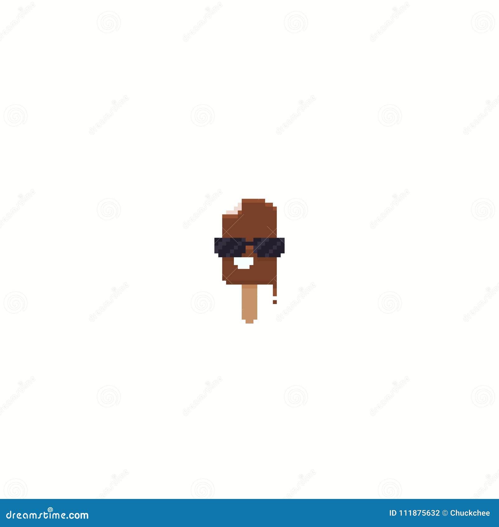 Pixel Art Icecream Illustration De Vecteur Illustration Du