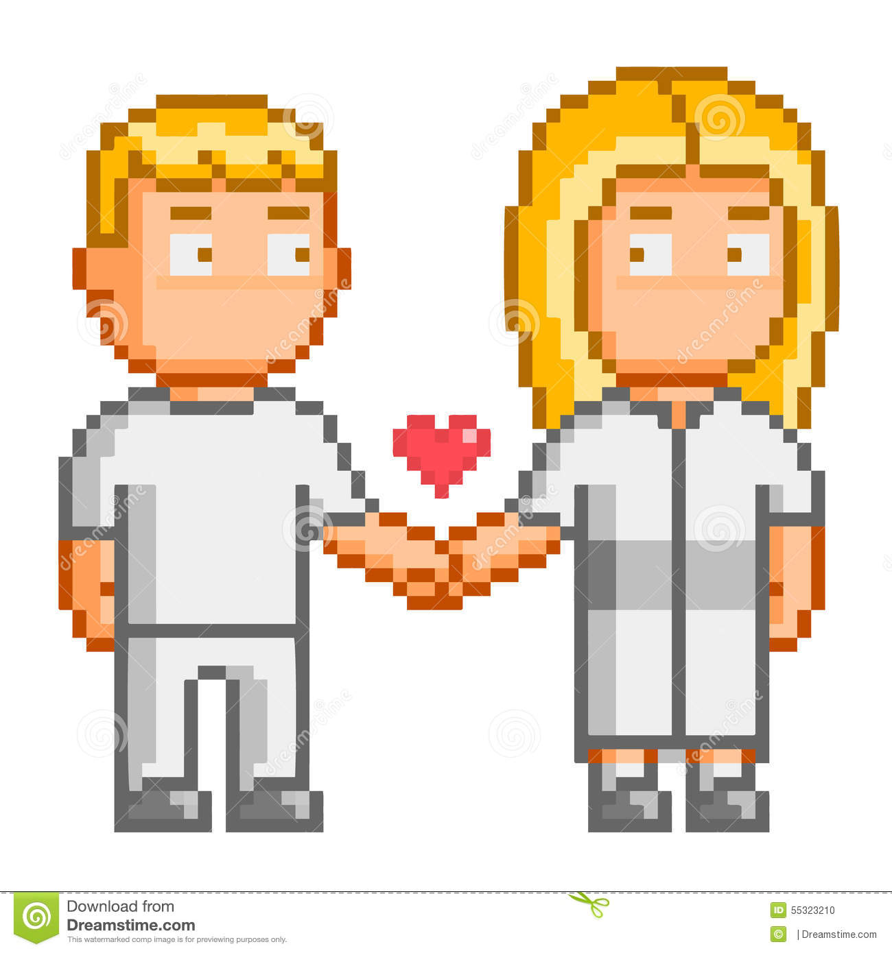 pixel art people love you stock vector image of love 55323210. Black Bedroom Furniture Sets. Home Design Ideas