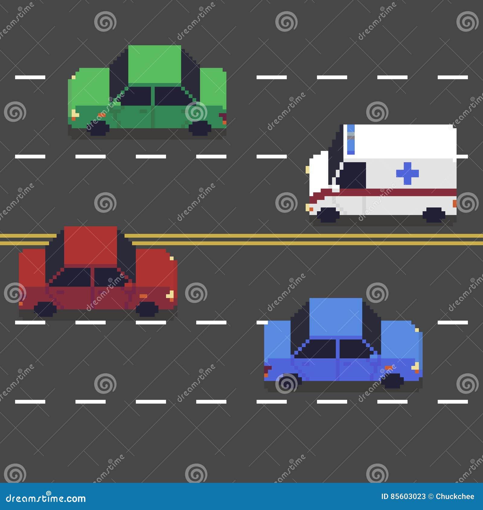 Pixel Art Road
