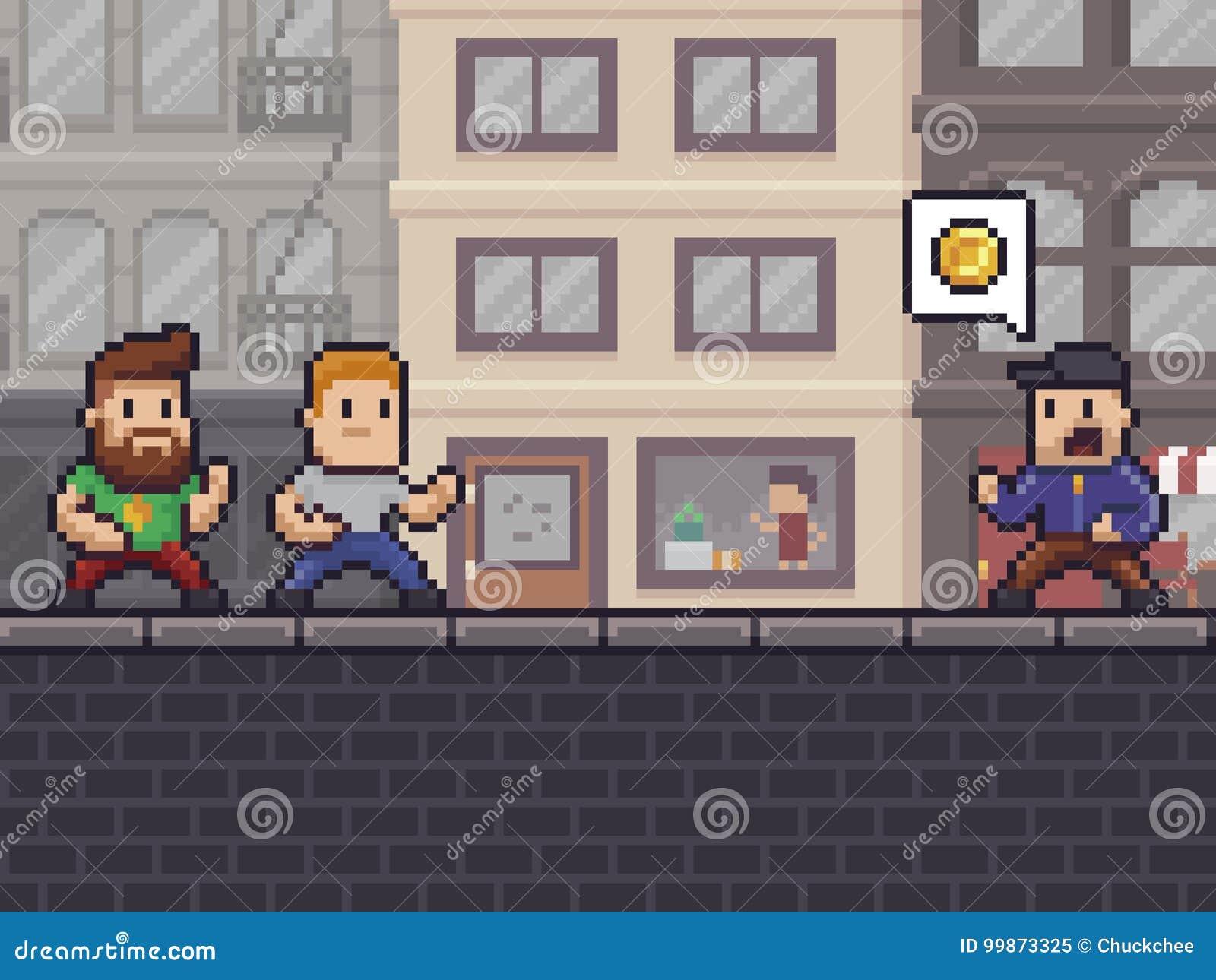 Pixel Art Robbery