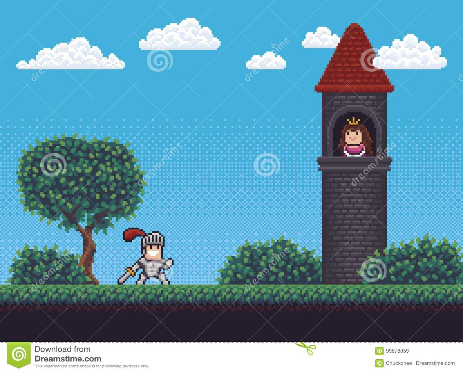 Pixel Art Scene Illustration De Vecteur Illustration Du