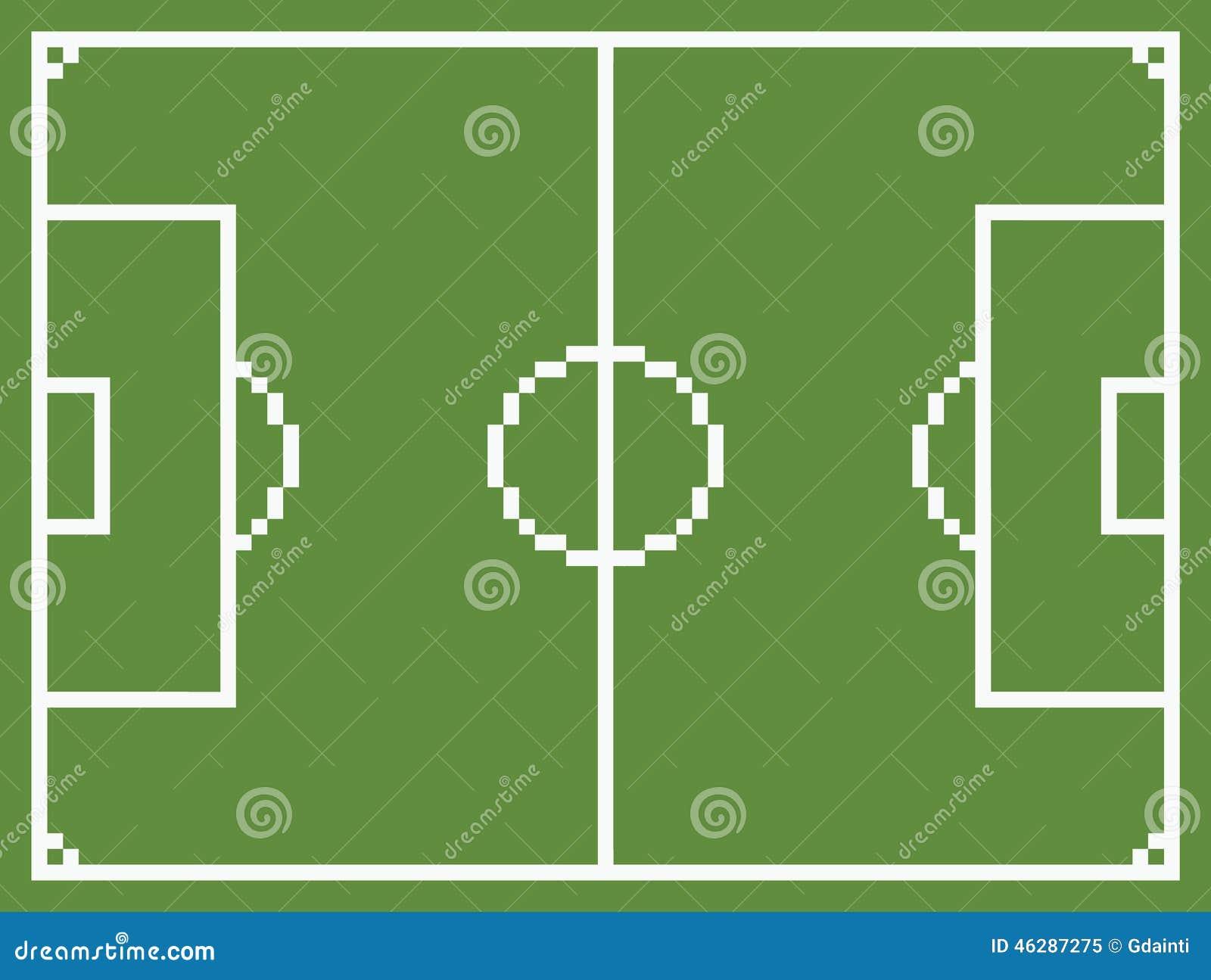 Pixel Art Style Football Sport Field Soccer Stock Vector - Image: 46287275
