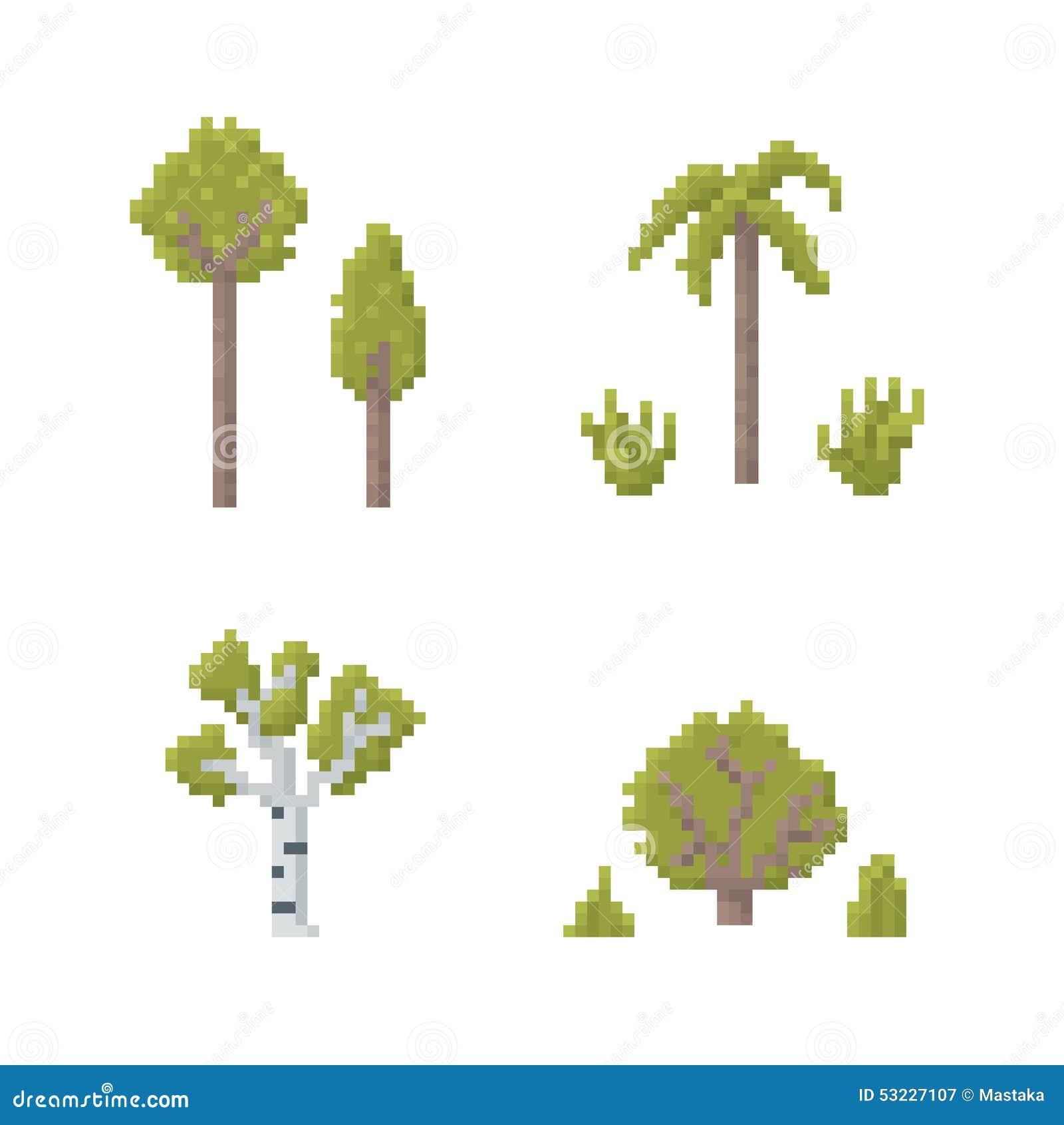 Pixel Art Trees