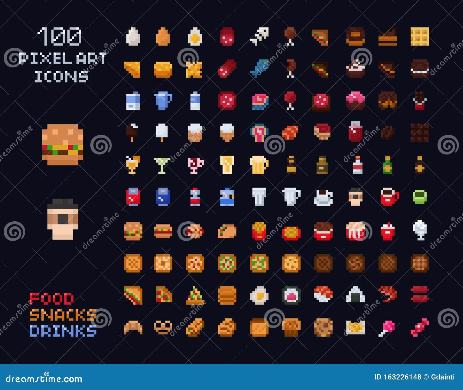 Pixel Food Stock Illustrations 11 376 Pixel Food Stock Illustrations Vectors Clipart Dreamstime
