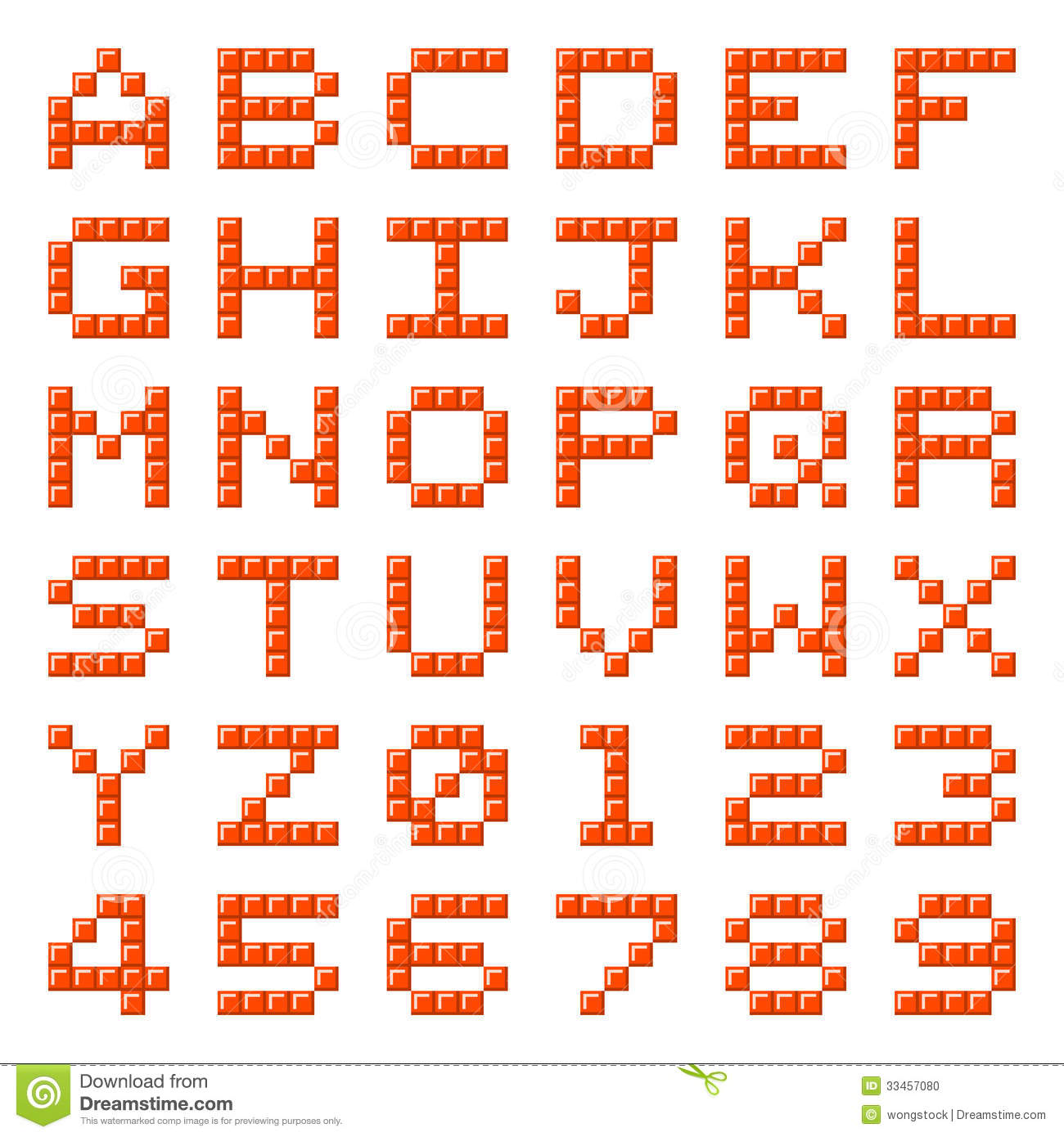 Minecraft Block Numbers And Letters
