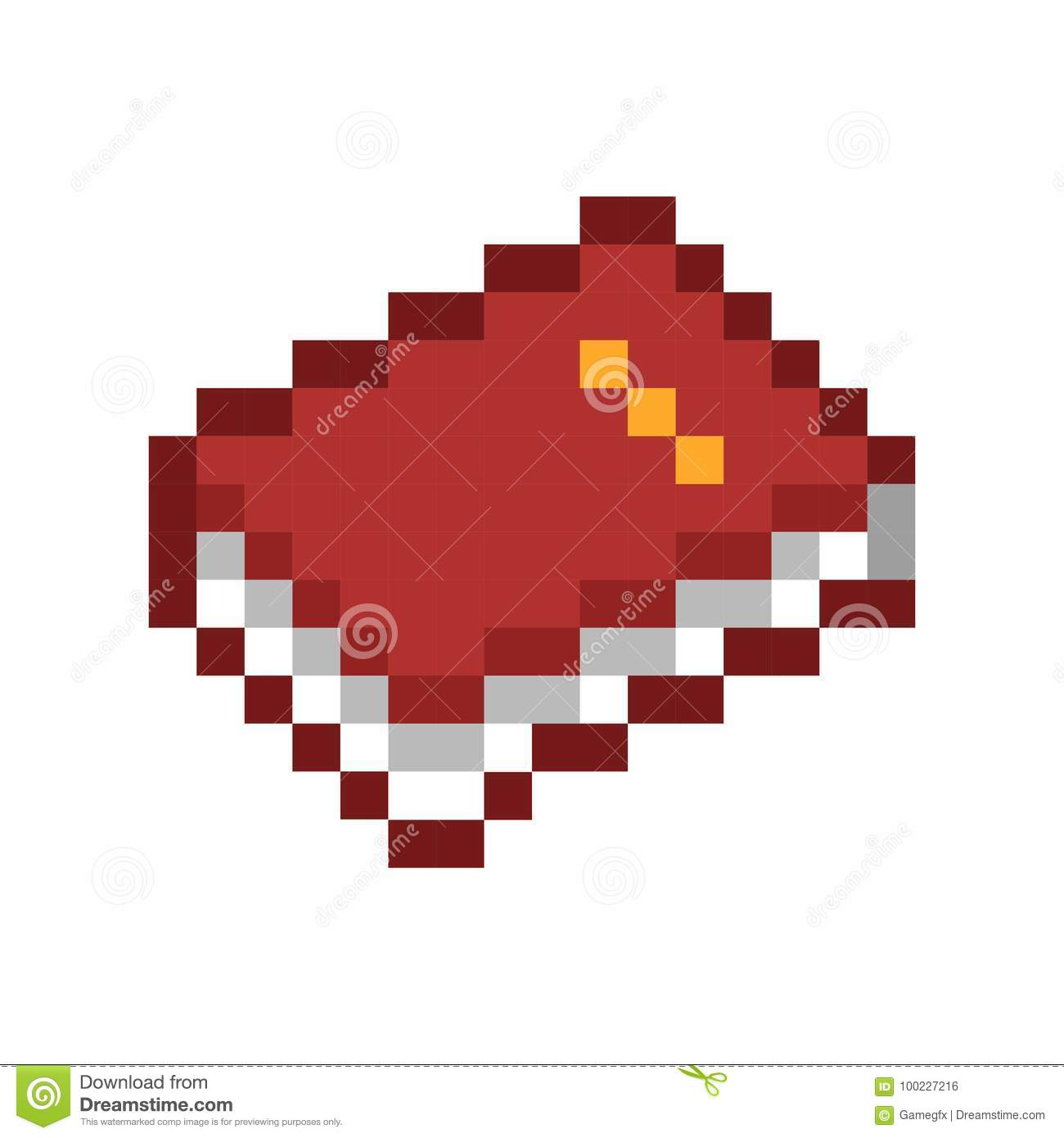 Pixel Book Pixel Art Cartoon Retro Game Style Stock Vector