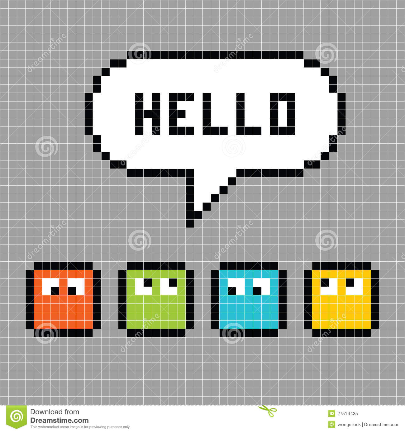 Pixel Characters Say Hello Royalty Free Stock Photo - Image: 27514435 Vintage Camera Backgrounds