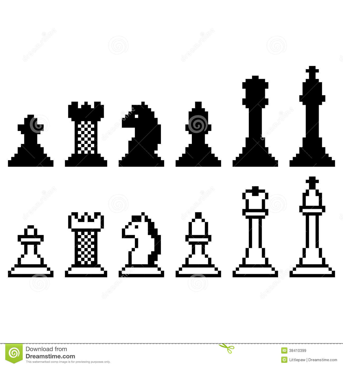 Simple Chess Set Collection Royalty Free Stock Image Image 12393296