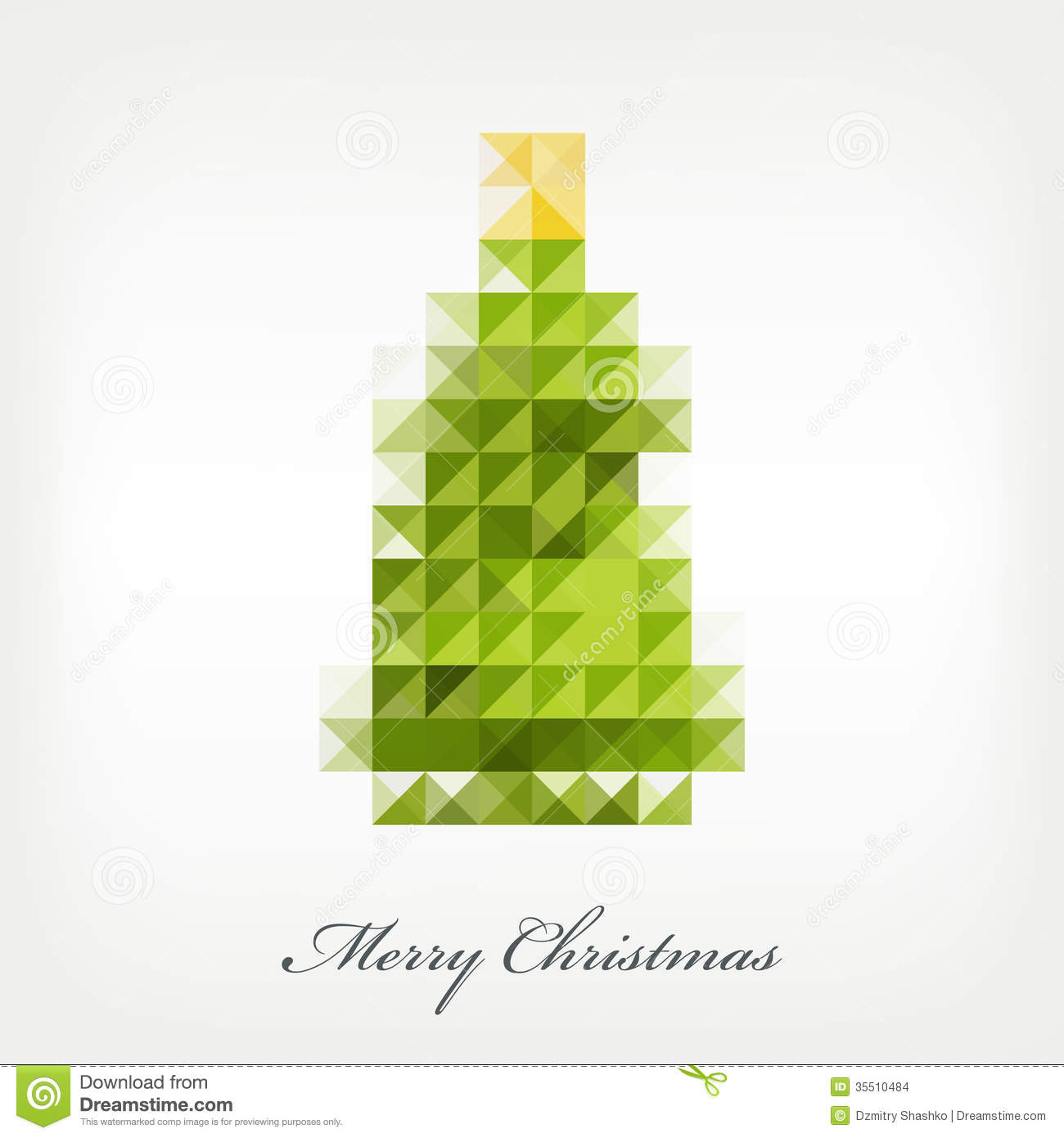 Pixel Christmas Tree Stock Images - Image: 35510484