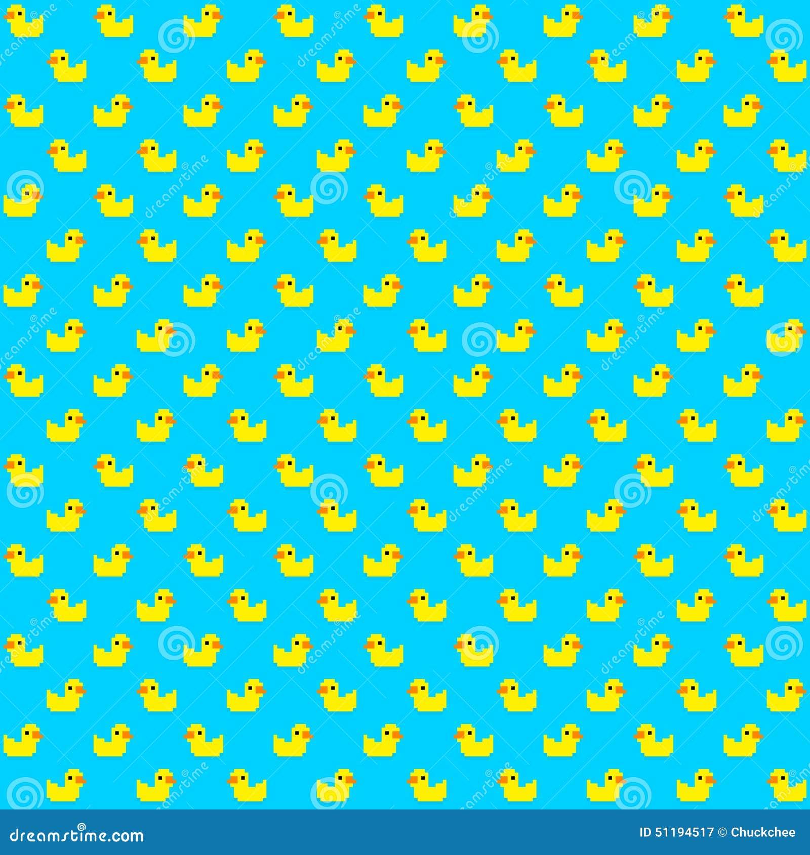 Pixel Duck Stock Vector Image 51194517