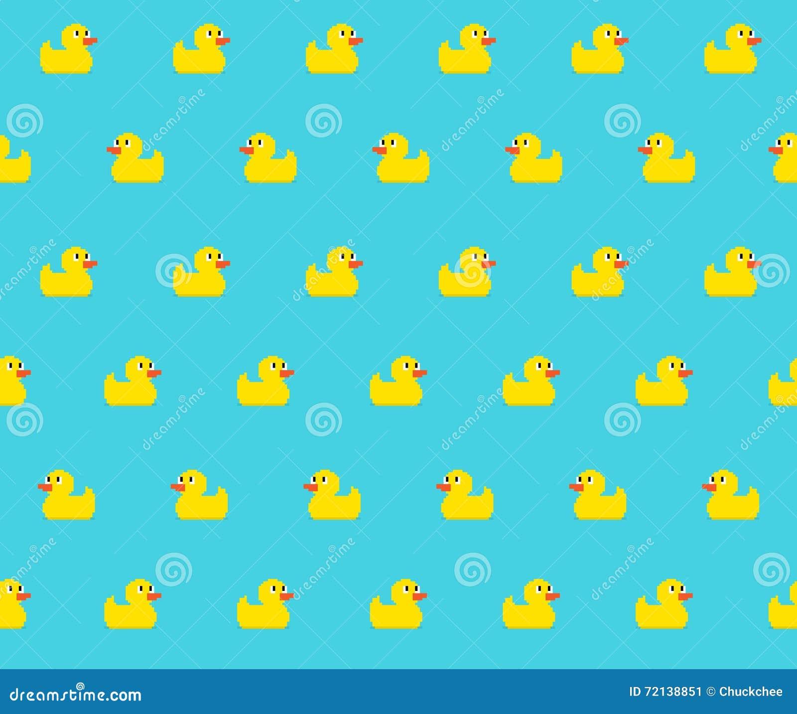 Pixel Duck Stock Vector. Illustration Of Paper, Design