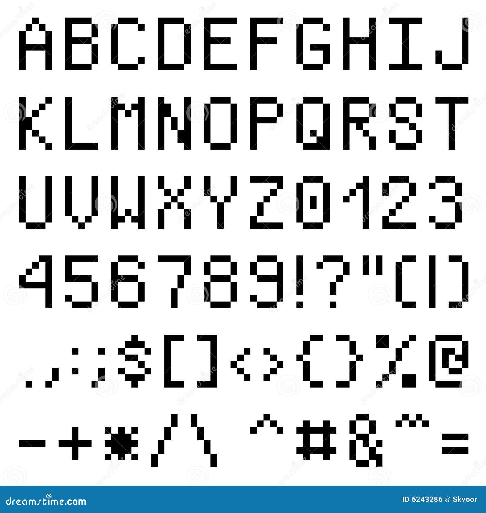 Pixel Font Royalty Free Stock Image
