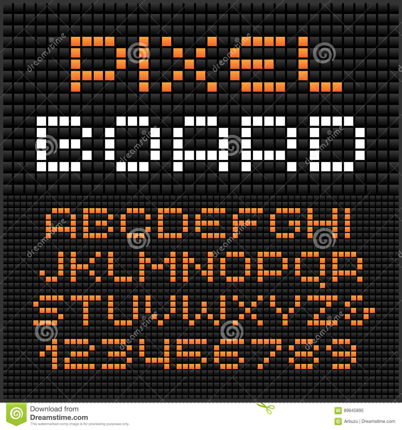 Pixel Font. Vector Alphabet With Dots Effect Letters And