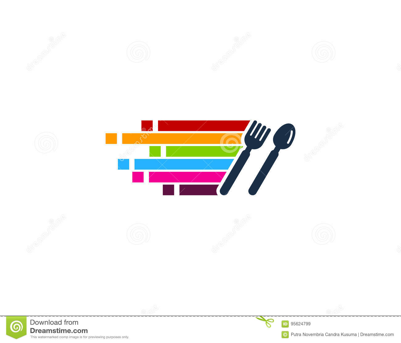 Pixel Food Icon Logo Design Element