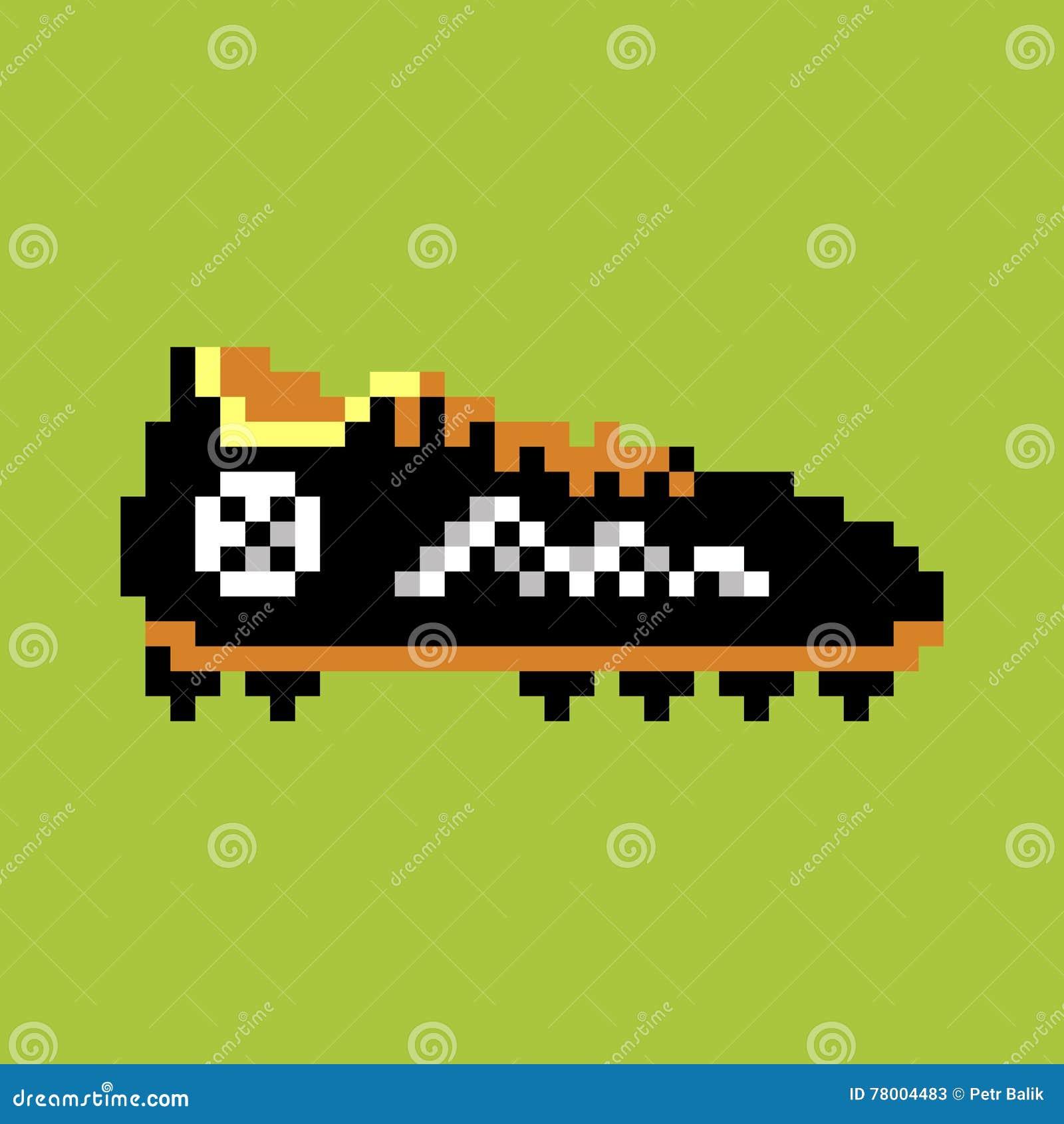 Pixel Football Boot Stock Vector Illustration Of Modern