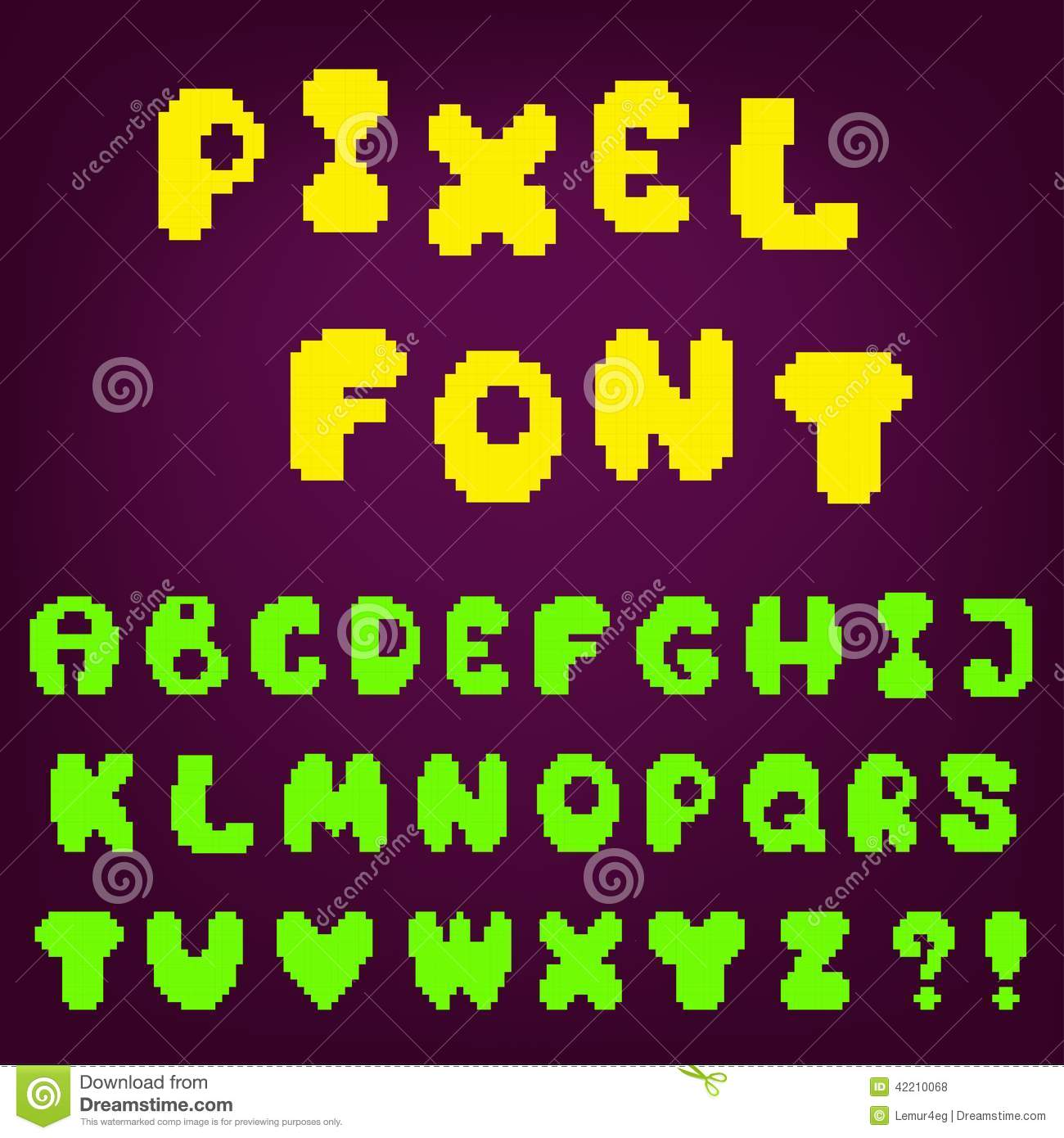 Pixel Game Font Stock Vector. Illustration Of Design