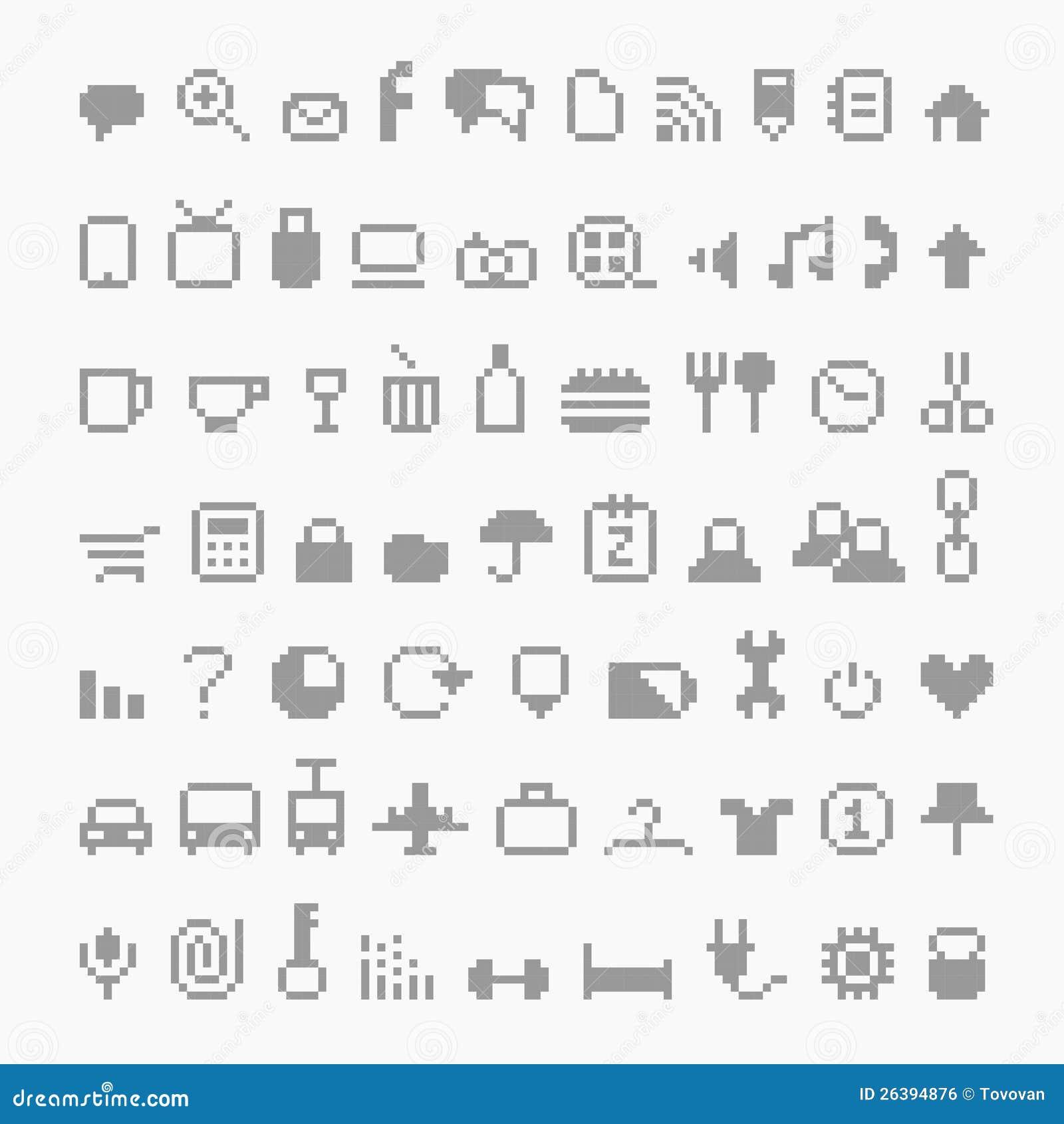 pixel icons royalty free stock image image 26394876