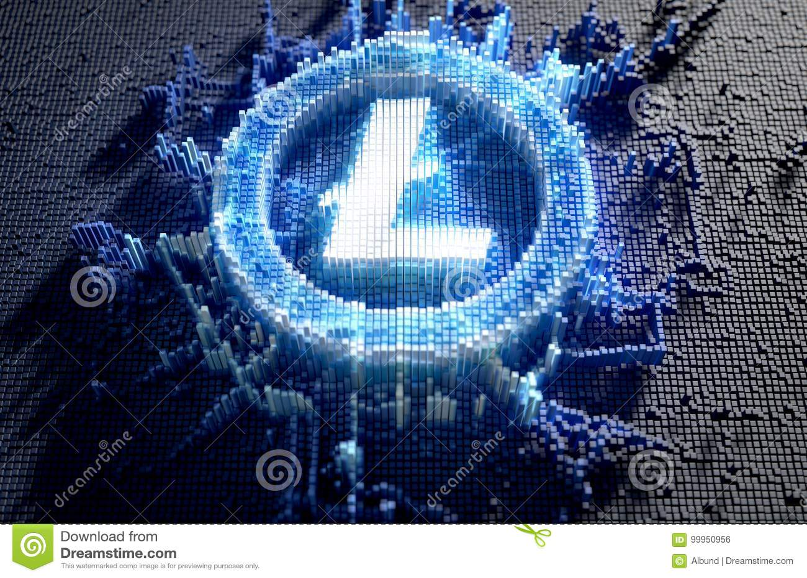 Pixel Litecoin Concept Stock Illustration Of Money