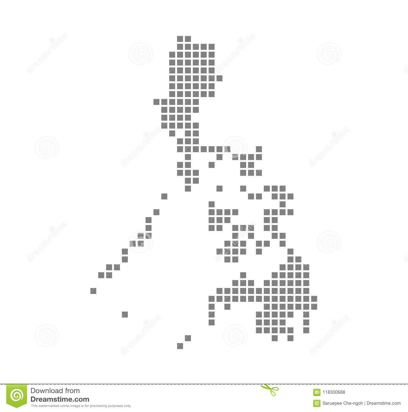 Pixel Map Of Philippines. Vector Dotted Map Of Philippines Isolated ...